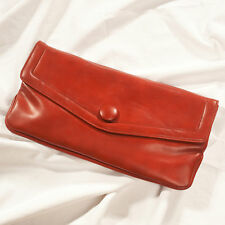 '70'S FRENCH VINTAGE LEATHER CLUTCH BAG