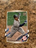 Gleyber Torres 2021 Topps Gold SP Parallel 0989/2021  # 242 New York Yankees