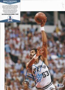 ARTIS GILMORE signed (SAN ANTONIO SPURS) Basketball 8X10 BECKETT BAS Y75609