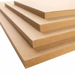 Square MDF Plain Boards Sheets, 12mm & 18mm various sizes 50mm - 600mm
