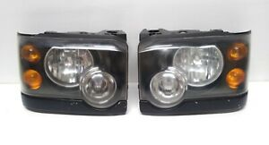 03-04 Land Rover Discovery Halogen Headlight Set Black Trim