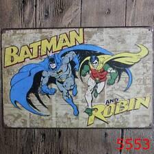 Metal Tin Sign batman and robin Bar Pub Home Vintage Retro Poster Cafe ART