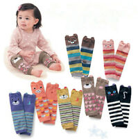 Cartoon Baby Leg Warmers Boys Girls Toddler knee-length Striped Leg Warmer3CBA