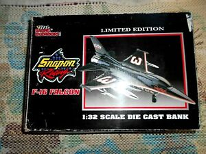 Snap-on Racing Dale Earnhardt  F-16 Falcon Jet Die-cast Coin Bank 1:32 scale NEW