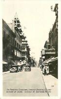 Autos San Francisco California Oriental Colony 1940s RPPC Photo Postcard 320