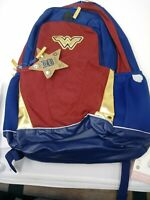 S//3 Wonder Woman Kids Big Backpack Shoulder Bag Superhero Pencil Bag Wholesale