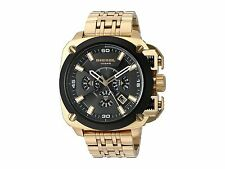 BRAND NEW DIESEL DZ7378 BAMF BLACK DIAL CHRONOGRAPH GOLD TONE STEEL MEN'S WATCH