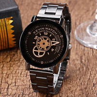 Fashion MenWomen Business Stainless Steel Analog Quartz Boy Sport Wrist Watch rl
