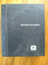 John Deere 9100 9200 9300 9400 Tractor Technical Manual Original Black Binder