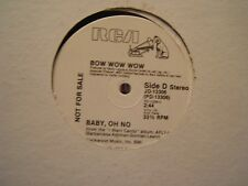 Bow Wow Wow Baby Oh No, 2 mixes 12""