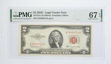1953-C $2 FR#1512 (AA Block) Red Seal Graded PMG - 67 EPQ Legal Tender *792