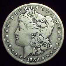 1889 CC Morgan SILVER Dollar Fine Detailing - Authentic CARSON CITY US Coin