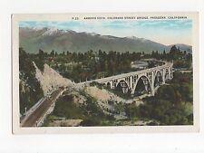 USA, Arroyo Seco, Colorado Street Bridge, Pasadena Postcard, A496
