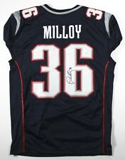 Lawyer Milloy Signed New England Game Cut Jersey JSA Witnessed