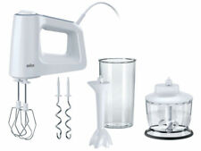 Braun HM3135WH MultiMix 3 Hand Mixer with 600 ml BPA Free Beaker - White