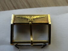VERY RARE VINTAGE LONGINES GOLD PLATED BUCKLE SIZE 18MM