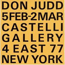 Don Judd Exhibition Poster, Leo Castelli Gallery, 1966