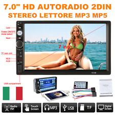 """7.0"""" HD Touch Screen Autoradio 2DIN Stereo Lettore MP5 Media BT USB/TF/FM/AUX-IN"""