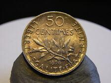 4CL(130) - 50 CENTIMES - ARGENT - 1898 - SEMEUSE - QUALITE SPL !