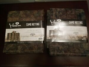 Two (2) Mossy Oak Camo Blinds Netting-Break-Up Country 12ft x 56in Cover Each