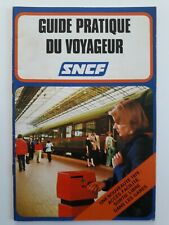 Sncf Guide pratique du voyageur 1978