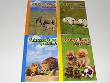 4 x A5 Stickeralbum Stickerheft Sticker Sammel Album NEU Aufkleber Leer Tiere