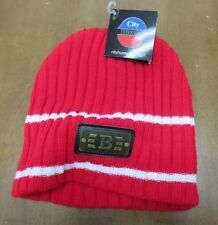 City Hunter Red With White Boston Beanie Hat ski cap NWT winter fall