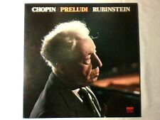 ARTUR RUBINSTEIN Chopin: preludi lp ITALY MAI SUONATO UNPLAYED!!!