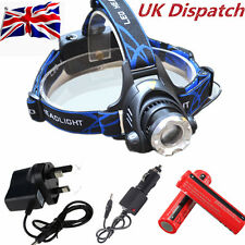 15000Lm T6 Zoomable CREE XML LED Rechargeable Head Torch Headlamp Headlight HY