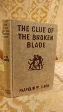 Hardy Boys Mystery The Clue of the Broken Blade Franklin Dixon Tan Binding