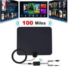 100 Miles Indoor Digital TV Antenna with Signal Amplifier Booster HDTV Antena BE