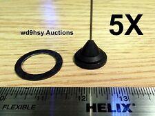NMO 5 Pack (5X) Replacement 2 Meter Antenna Whip Motorola Chrome Nut Ham Tuned