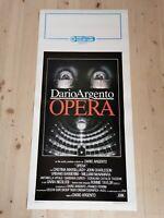 "OPERA 1987 Original Movie Poster 12x27"" Italian DARIO ARGENTO CASARO HORROR"