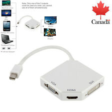Mini Display Port to DVI/ HDMI/VGA Adapter Cable Thunderbolt For MacBook NEW CA