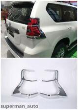ABS Chrome Rear Tail Light Tail Lamp Cover Trim For Toyota Prado FJ150 2018 New