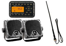Jensen Weatherproof ATV  Skidsteer JHD910BT Bluetooth Radio, Speakers, Antenna