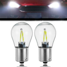 2Pcs 1156 BA15S P21W COB White Reverse Backup Lamp Bulb LED Turn Signal Light