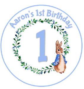 "7.5"" Pre-Cut Edible Icing Original Peter Rabbit Round- Square Cake Icing Topper"