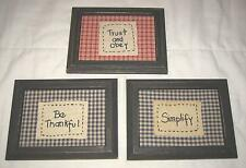 """6""""X8"""" TRUST AND OBEY, BE THANKFUL & SIMPLIFY DECORATIVE FRAMED WALL HANGINGS"""
