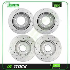 Front And Rear Brake Discs Rotors Kits For Lexus IS250 2006-2012 Drilled Slotted