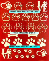 Iron On Decals - OVER 21 PUPPY PAW IRON-ON FREE FAST SHIPPING