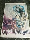 #6 Captain Morgan Original Spiced Rum tin Metal Sign 18inch by 12 inch