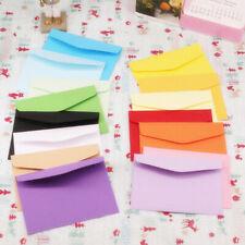 10pcs Candy colors postcard wedding invitation envelope small paper envelopes SE