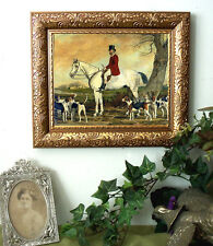 Pearce Master of Hunt Horse Fox Hound Print Antique Styl Framed 11X13 fh