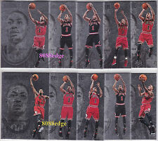(10) 2012-13 PANINI INTRIGUE INTRIGUING PLAYERS: DERRICK ROSE #121-130 BULLS SET