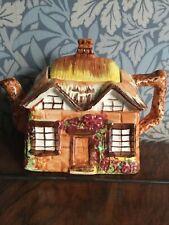 More details for vintage teapot cottage ware price bros 'ye olde cottage' highly glazed