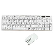 White Wireless 2.4ghz Gaming Keyboard and Mouse Combo Set Power Saving
