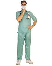 Green Er Male Surgeon Scrubs Hospital Halloween Costume