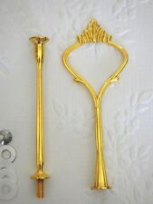 2 tier LIGHTWEIGHT size Gold Crown Cake Stand Handle Fitting Hardware High Tea