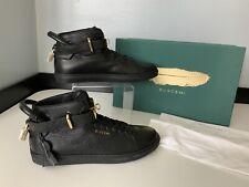 Buscemi Men's High Top Sneakers, Uk 6 Eu40, Black  Leather, RRP £725 Boxed